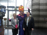 Carmen with Doncaster Civic Mayor, Councillor Paul Wray, and his wife Sue