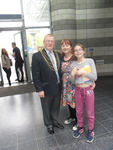 Doncaster Civic Mayor, Councillor Paul Wray, with Lynne and Alyssa