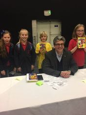 David Solomons and some Saltersgate students
