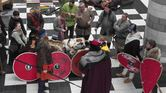 Jorfors Hall Viking re-enactment group Living History display 2