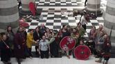 Jorfors Hall Viking re-enactment group with DBA Committee and Liz Million 2