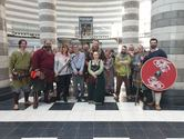 Jorfors Hall Viking re-enactment group with Waterstones Staff 2