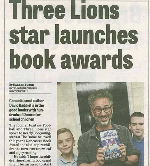 Doncaster Free Press article, 8th October 2015
